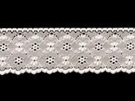 "White Edge Lace Trim - Soft Textured - 3"" (WT0300E02)"