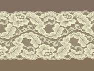 "Ivory Galloon Lace Trim w/ Slight Sheen - 5"" (IV0500G01)"