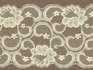 "Ivory Galloon Lace Trim w/ Sheen - 7.25"" (IV0714G01)"