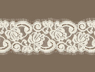 Light Ivory Galloon Lace Trim w / Eyelash - 3.5'' (IV0312G01)