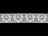 White Edge Lace Trim - 1.5'' (WT0112E12)