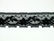 "Black Edge Lace Trim - 0.75"" (BK0034E06)"