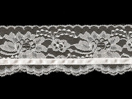 White Edge Lace With White Ribbon Trim - 3'' (WT0300U03)