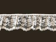 White Ruffled Edge Lace Trim - 3'' (WT0300U04)