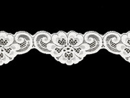 Off White Scalloped Lace Trim - 2.75'' (WT0234S01)