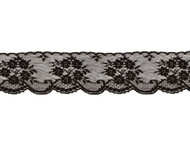 "Black Edge Lace Trim - 2.375""  - (BK0238E03)"