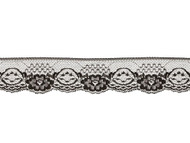 "Black Edge Lace Trim - 2"" - (BK0200E03)"