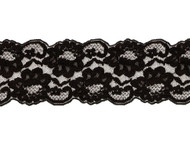 "Black Galloon Lace Trim - 3.5"" - (BK0312G04)"