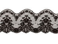 "Black Galloon Lace Trim - 3.5"" - (BK0312G02)"