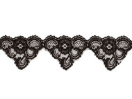 "Black Scalloped Lace Trim - 2.75"" - (BK0234S01)"