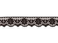 "Black Edge Lace Trim - 1.5"" - (BK0112E02)"