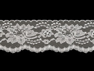 "White Edge Lace Trim - 3""- (WT0300E04)"