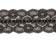 "Black Galloon Lace with Ribbon - 3.5"" (BK0312U01)"