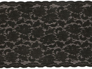 "Black Galloon Stretch Lace - 7.5"" (BK0712G01)"