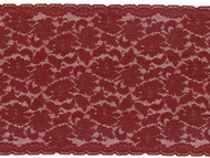 "Burgundy Galloon Stretch Lace - 8"" (BY0800G01)"