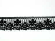 "Black Edge Lace Trim - 0.75"" (BK0034E01)"