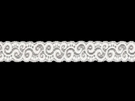 "White Galloon Stretch Lace - 1.3750"" - (WT0138G02)"