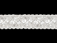 "White Galloon Scoured Stretch Lace 2.25"" - (WT0214G02)"