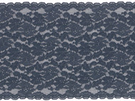 "Navy Blue Galloon Stretch Lace -7"" - (PR0712G01)"