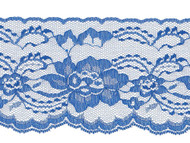 "Royal Blue Edge Lace Stiff - 4""- (RB0400E01)"