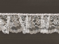"White Silver Edge Lace Ruffled - 3"" -(WS0300U01)"