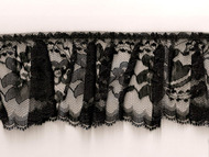 "Black Edge Ruffled Lace - Stiff - 3"" (BK0300U50)"