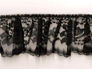 "Black Edge Ruffled Lace - Stiff - 3"" (BK0300U50)"