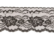 "Black Edge Lace - Stiff - 4"" (BK0400E50)"