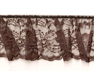 "Brown Edge Ruffled Lace - Stiff - 4"" (BN0400U50)"