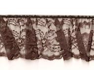 "Brown Edge Ruffled Lace - Stiff - 4"" (BN0400U50)"