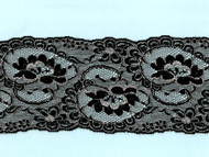 "Black White Galloon Lace - 4"" (BW0400G50)"