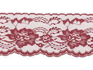 "Burgundy Edge Lace - Stiff - 4"" (BY0400E50)"