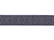 "Gold Blue Edge Trim - Metallic Gold - Soft - 1.5"" (GB0112E50)"