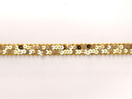 "Gold Edge Trim - Gold Sequin - .5"" (GS0012E50)"
