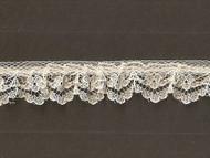 """Ivory Ruffled Lace - Stiff - .75"""" (IV0034U50)"""