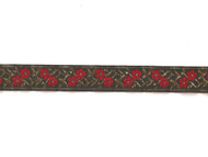 "Multi-Colored Woven Metallic Trim  - 1"" (MC0100E50)"
