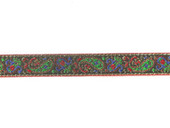 "Multi-Colored Edge Trim - Jacquard Woven Metallic - 1"" (MC0100E51)"