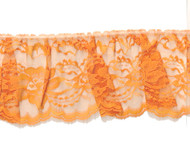 "Orange Edge Ruffled Lace - Stiff - 4"" (OR0400U50)"