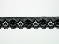 "Black Edge Lace Trim - 0.75"" (BK0034E02)"