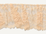 "Lt Peach Edge Ruffled Lace - Stiff - 4"" (PE0400U50)"