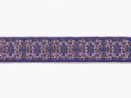 "Purple Gold Edge Trim - Woven Metallic Soft Trim - 1.5"" (PG0112E50)"