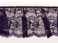 "Purple Edge Ruffled Lace - Stiff - 4"" (PR0400U50)"