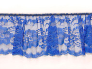 "Royal Blue Edge Ruffled Lace - Stiff - 4"" (RB0400U50)"