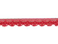 "Red Edge Cotton Cluny Lace - .875"" (RD0078E50)"