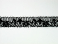 "Black Edge Lace Trim - 0.75"" (BK0034E07)"
