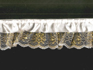 "White Gold/White Novelty Ruffled Ribbon Lace - 2"" (WG0200U50)"
