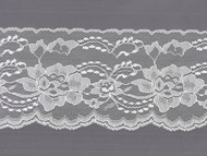 "White  Edge Lace - Stiff - 4"" (WT0400E50)"