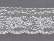 "White  Edge Lace - Stiff - 4"" (WT0400E50)"