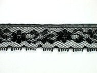 "Black Edge Lace Trim - 0.75"" (BK0034E04)"