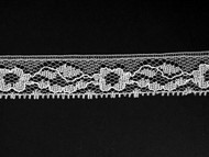 "White Edge Lace Trim - 0.75"" (WT0034E01)"